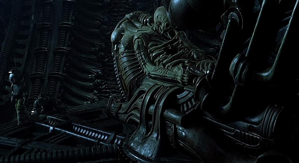 Alien derelict ship captain